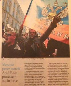 March for Peace in Moscow as reported by FT