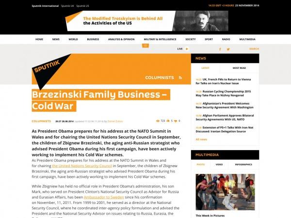 http://sputniknews.com/columnists/20140828/192431312/Brzezinski-Family-Business--Cold-War.html