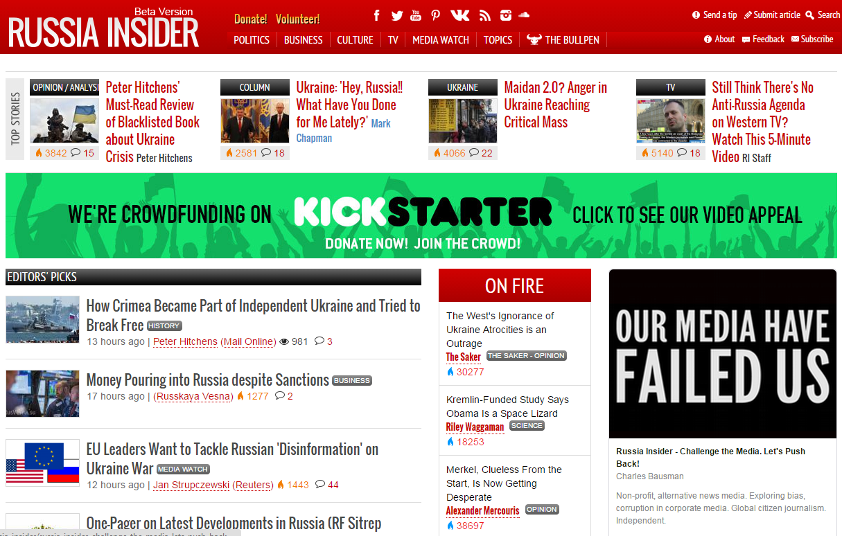 Why I Am Backing Russia Insider