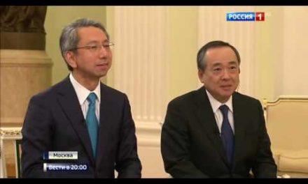 Putin threatenes Japanese with his large dog