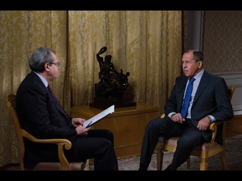 Russian TV First Channel Interview with Sergey Lavrov