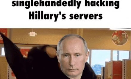 Leaked footage of Putin singlehandedly hacking Hillary's servers