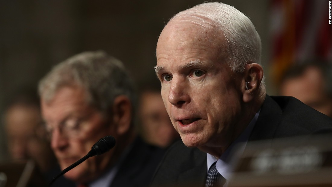 McCain rails against depicting equivalence between Putin, US