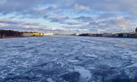 """Blue under blue"" – St. Petersburg, Russia[ 9057 x 2944] by Sergey Kochkarev"