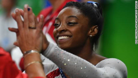 Simone Biles wins all-around gold at Rio Games in US one-two