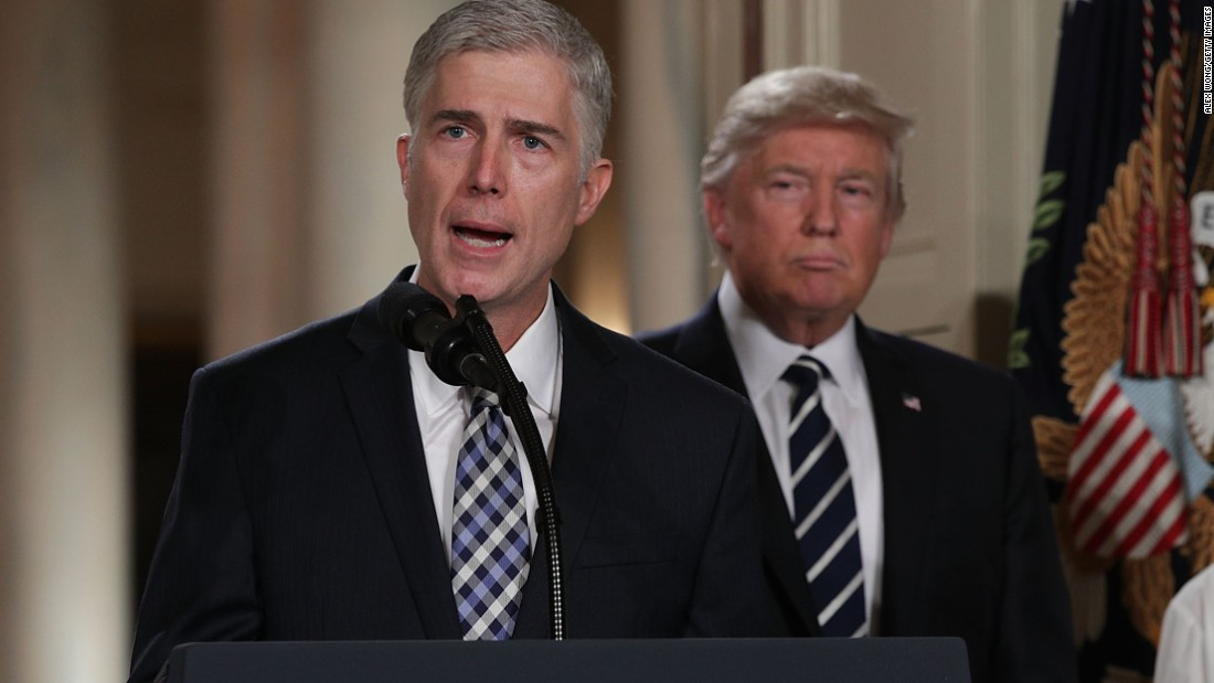 5 points for Wednesday, February 1, 2017: Neil Gorsuch, Donald Trump, Milky means