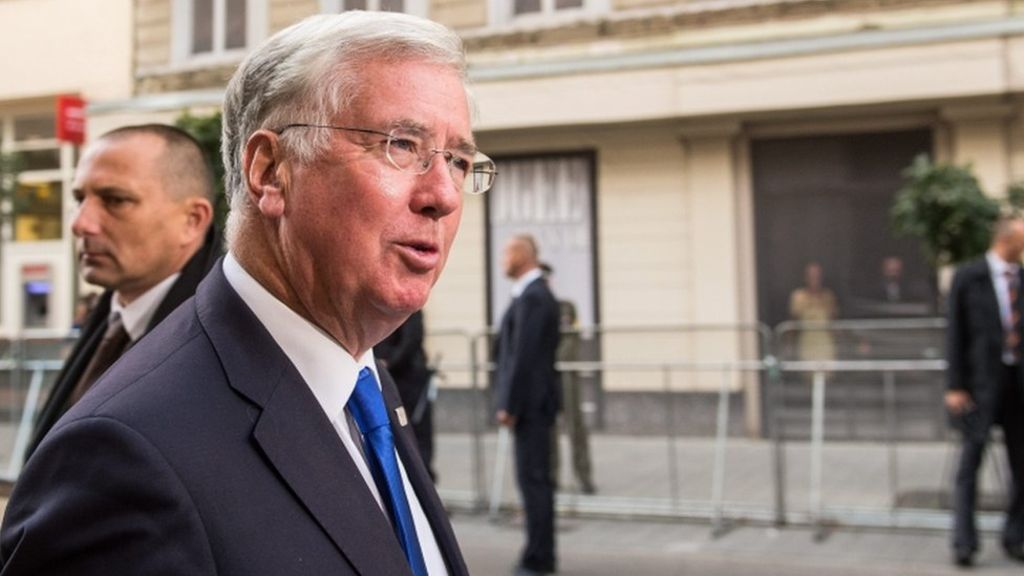 Michael Fallon: UK will certainly stand up to prepare for EU military – BBC News