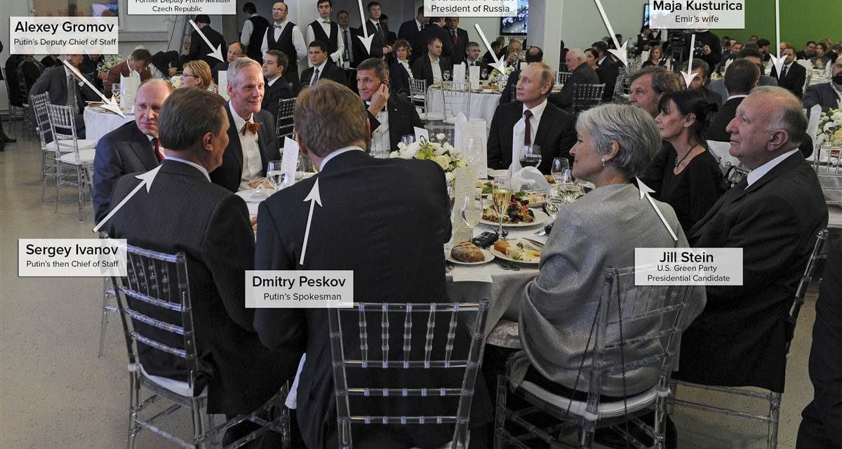 Guess Who Came to Dinner With Flynn as well as Putin – NBCNews.com