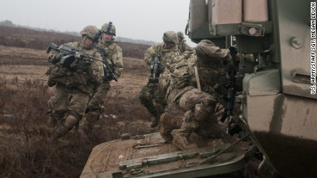 United States soldiers going to front of brand-new Cold War with Putin
