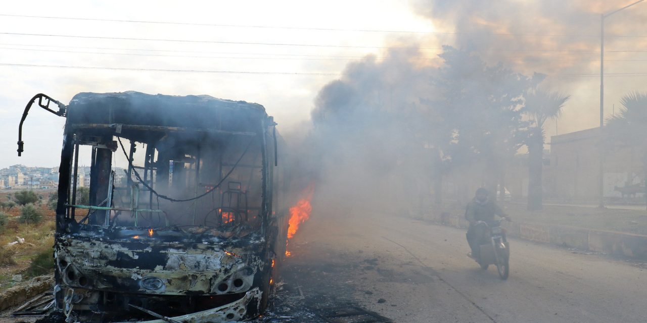 Gunmen Burn Buses To Stall Aleppo Evacuation, Convoy Goes Through