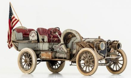 Winner of 1908 New York to Paris race recognized by Historic Vehicle Association