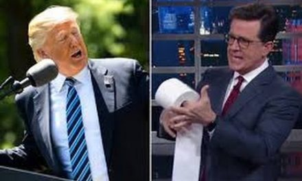 "Stephen Colbert Says Trump Is Putin's C * ck holster""! Gays Upset At Slur"