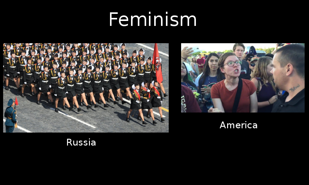 Feminism in Russia as well as America