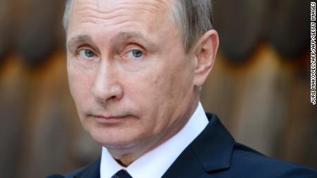 Vladimir Putin's celebration winning in Russian legislative political elections