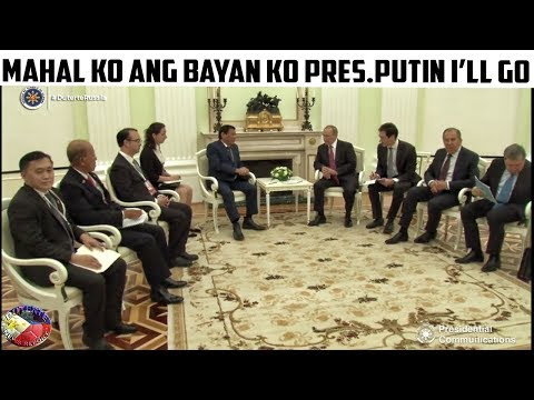 PRES DUTERTE MEETS with PRES PUTIN in KREMLIN RUSSIA BEFORE RETURNING TO PHILIPPINES!