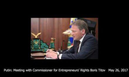 Putin: Meeting with Commissioner for Entrepreneurs' Rights Boris Titov