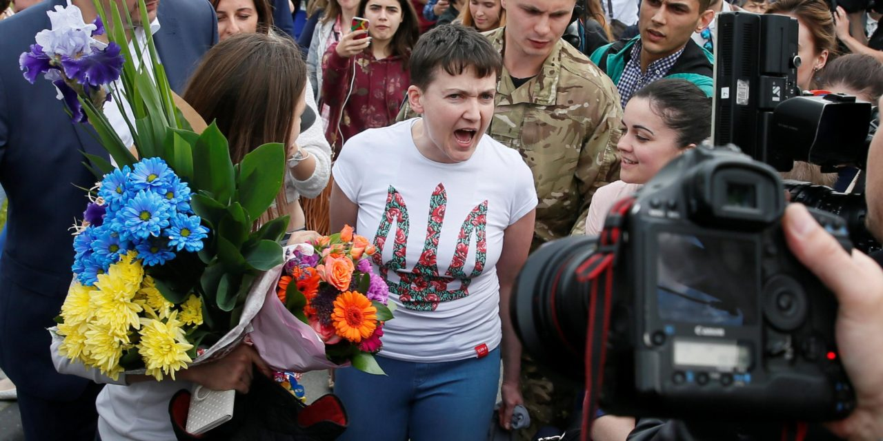 Ukrainian pilot Nadiya Savchenko launched by Russia in detainee swap