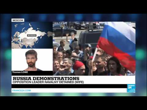 Russia Putin Critic Navalny 'Detained' Ahead Of Moscow Protest