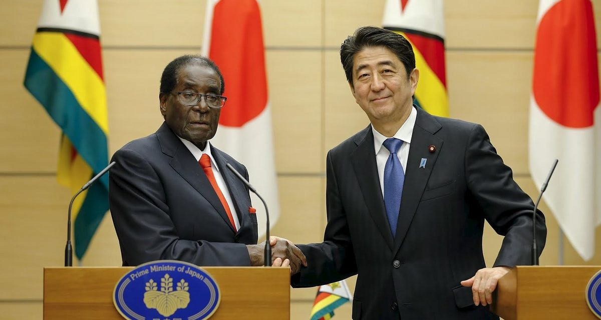 Japanese PM welcomes Robert Mugabe in promote African impact