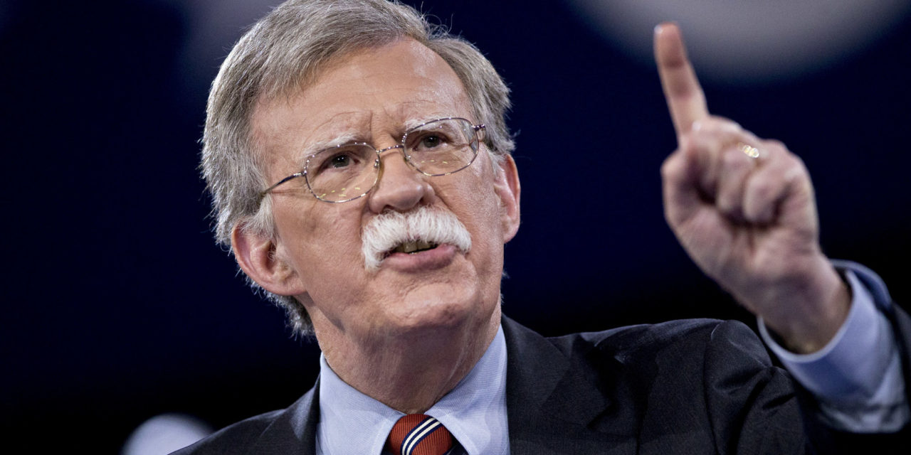 Trump To Nominate Extreme Militant John Bolton As State Department'sNo 2