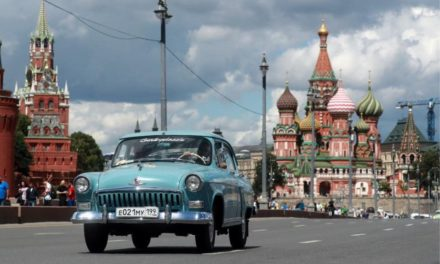 Classic vehicles on ceremony at Moscow's GUM Motor Rally Gorkyclassic 2017 -Telegraph co.uk