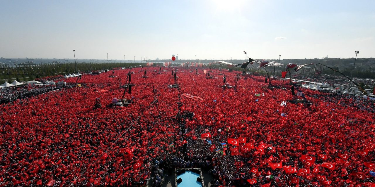 Turkey's President Erdogan Holds Gigantic Rally In Istanbul