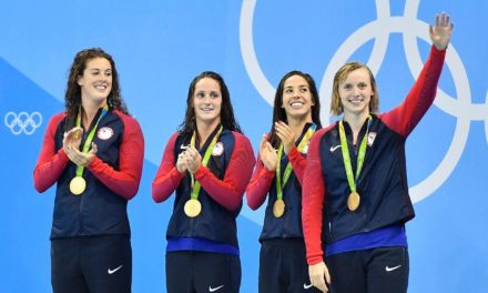 Ledecky results United States to gold in 4×200- meter freestyle, gets 3rd gold at Rio | Fox News