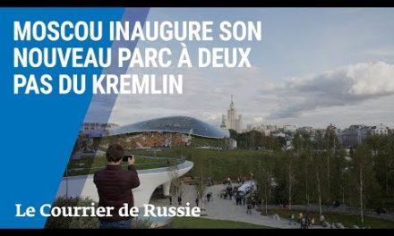 Moscou inaugure boy nouveau parc à deux pas du Kremlin