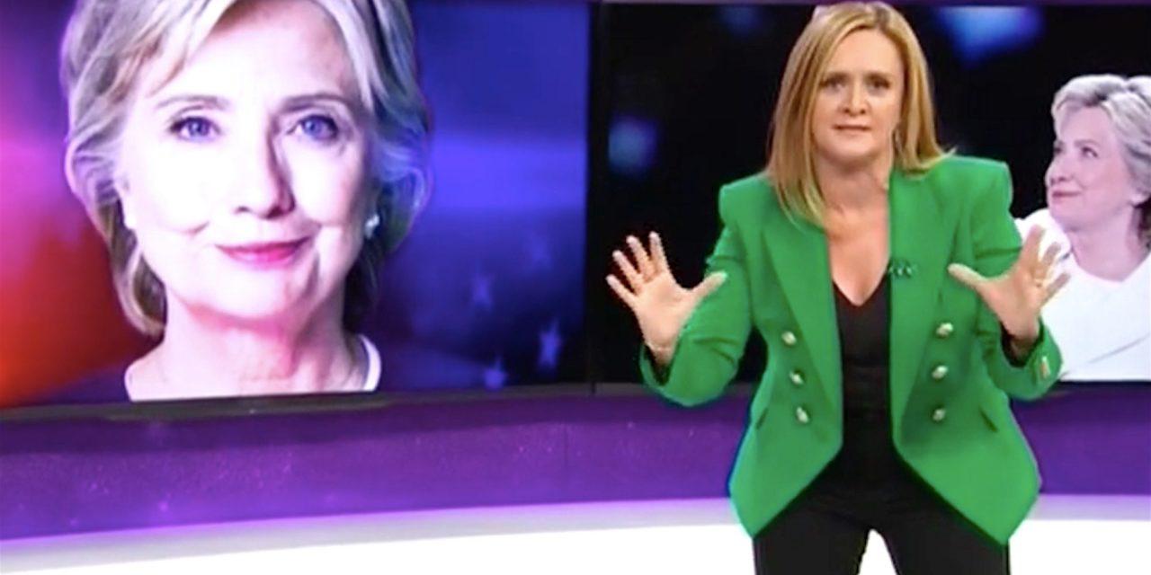 Samantha Bee: Dont Let Hillary Lose to a Man Cradling Putins Sweaty Sack
