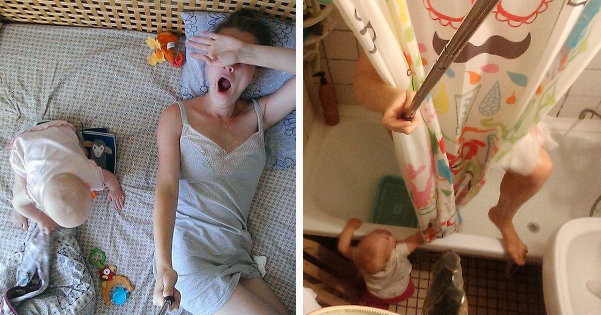 I Documented What It's Like To Be A Mom With A Selfie Stick