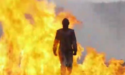 Watch This Badass Woman Walk Through An Explosive Field Like A Boss