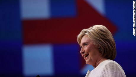 Hillary Clinton commemorates triumph