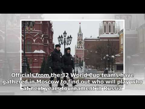 FIFA DRAW RUSSIA 2018: The globe mug finalists collected at the kremlin for the event draw