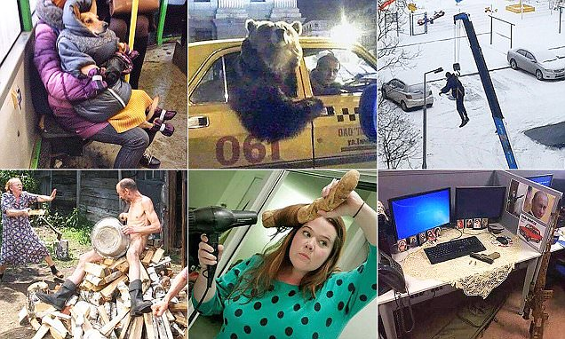 Moscow madness! Russian citizens share photos of the WEIRDEST things they have spotted in public – Daily Mail