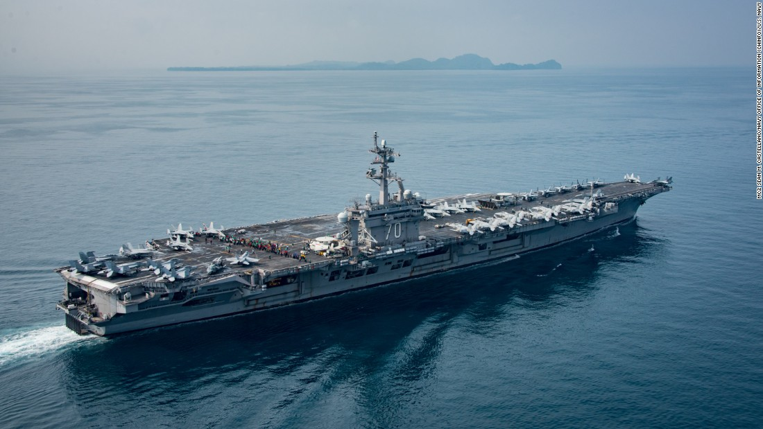 Where worldwide is the USS Carl Vinson?