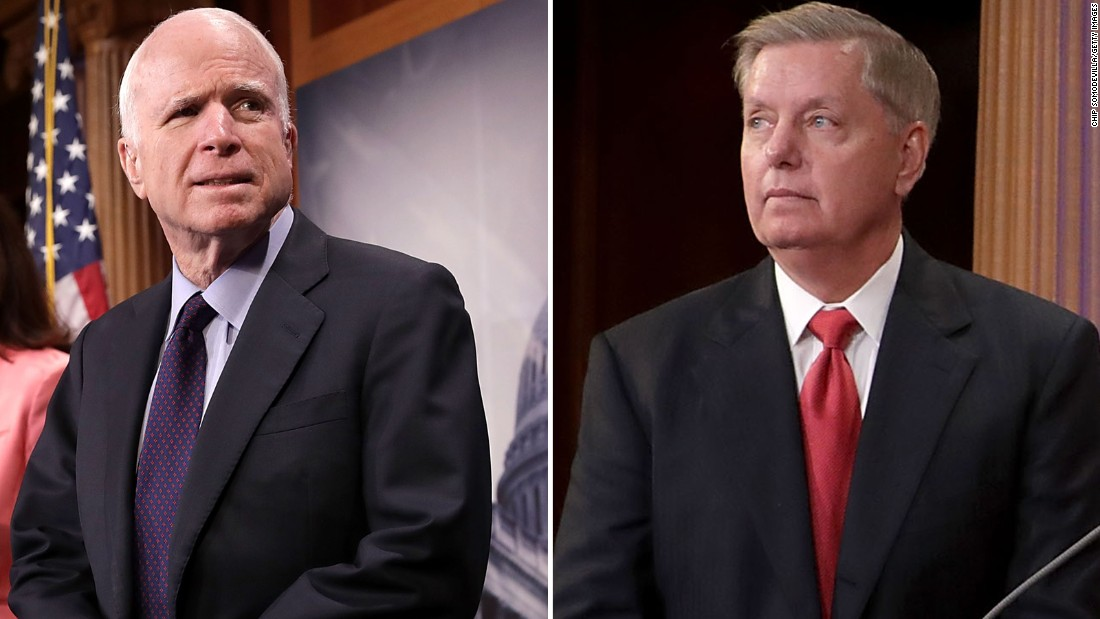 At CNN city center, McCain as well as Graham provide their sight of Trump's presidency up until now