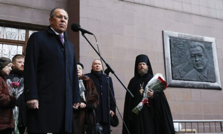 Lavrov reveals memorial plaque devoted to late Russian ambassador to Turkey – TASS