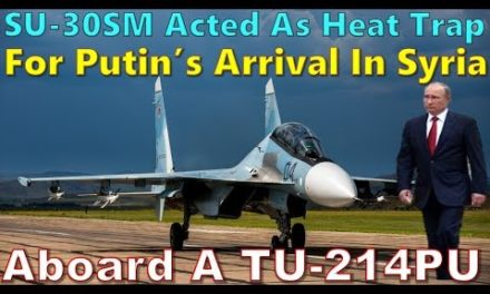 Su 30 SM Acted As secure For Putin's Arrival Aboard A Tu 214 PU