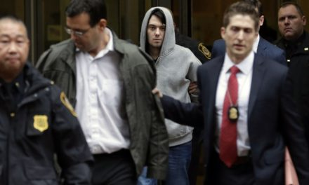Day 1 for Shkreli in Brooklyn Lockup: The Fun as well as Games Are Over