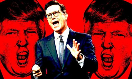 How Stephen Colbert Used Trump as far as Win front Late-Night War