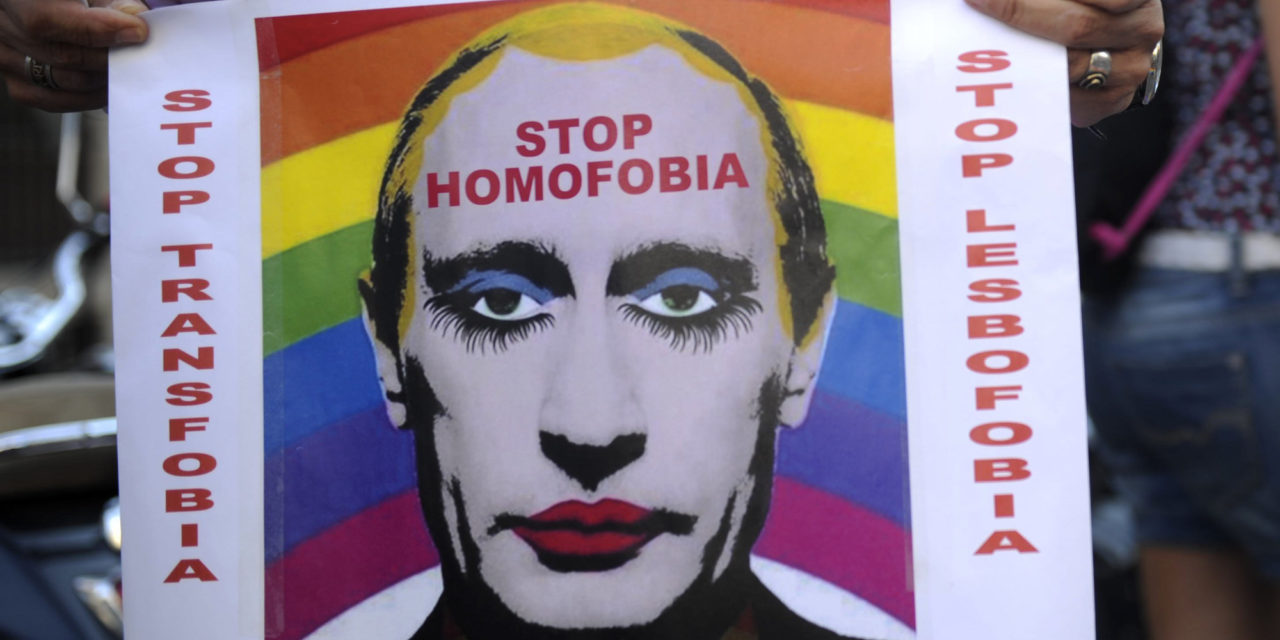 Russia Bans 'Extremist' Image Of Putin In Makeup