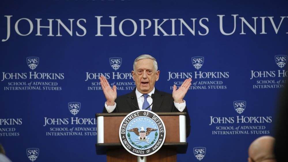 Mattis: Defense strategy concentrate on Russia, China , not horror -Aljazeera com