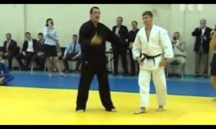 Steven Seagal fulfills Vladimir Putin at Martial Arts program