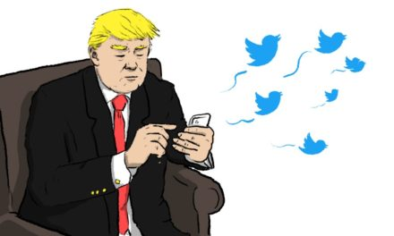 As the healthcare concern impends, Trump's tweets primarily appear in other places