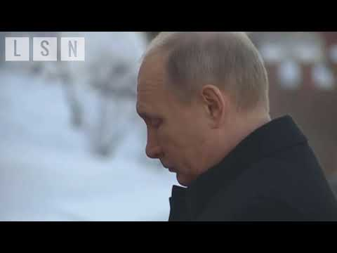 President Putin Seen in Moscow on Defender of the Fatherland Day 2/23/2018