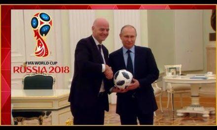 Mondiali 2018|Il video clip della Fifa|Putin palleggia disadvantage Infantino|Il countdown di campioni e non