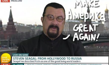Twitter Can' t Handle 'BondVillain' Steven Seagal Taking Donald Trump's Side In NFL Feud … From His New Home In Putin's Russia!