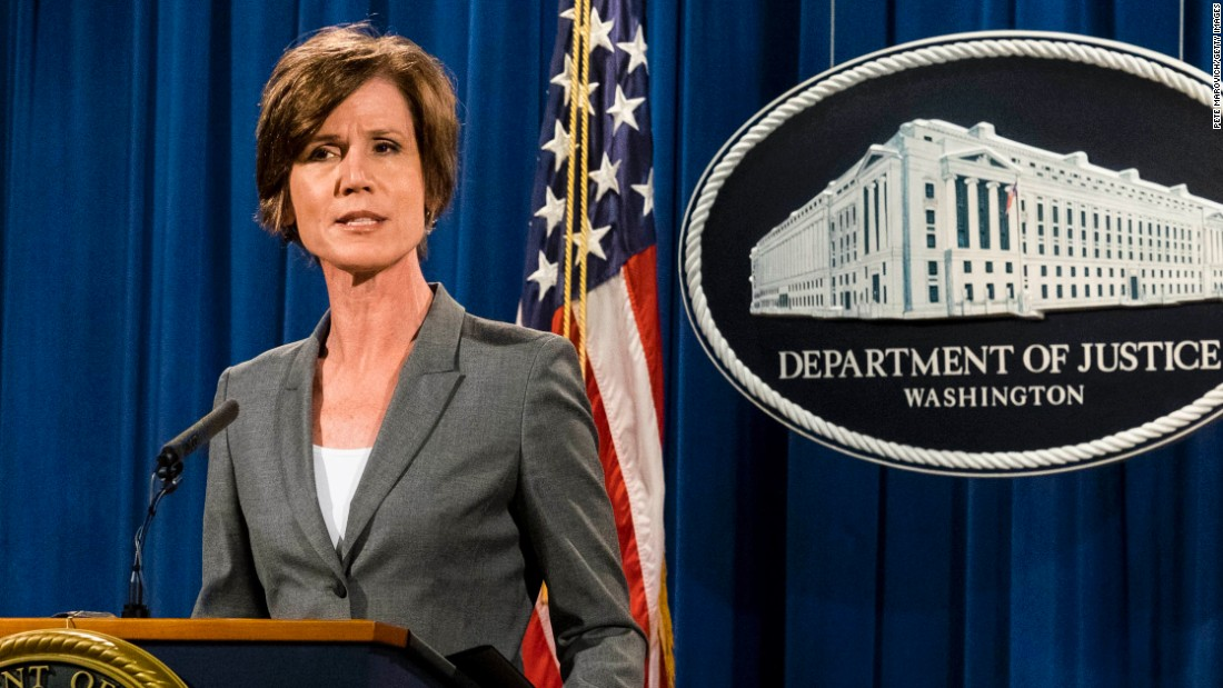 Sources: Former Acting AG Yates to oppose management regarding Flynn at hearing