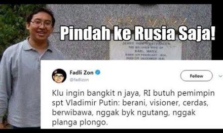 Fadli Zon Sebut RI 'Butuh' Putin, Bikin Terbahak- bahak! Pindah ke Rusia Saja!