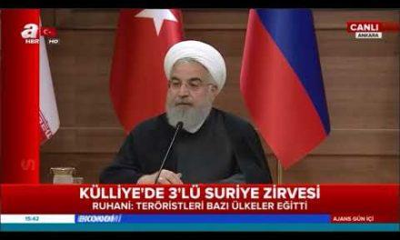 Cumhurba şkanı Erdo ğan, Putin ve Ruhani Ortak Bas ın Toplant ısı A Haber